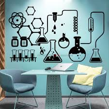 3 Science Wall Sticker Waterproof Lab Decor Science Is Cool Vinyl Decals Mural Geek Wall Art Decal Bedroom Chemistry Poster Wall Stickers Aliexpress