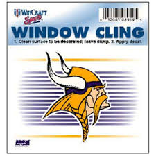Minnesota Vikings Old Logo 3x3 Static Window Cling At Sticker Shoppe