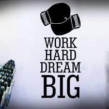Work Hard Dream Big Boxing Gloves Removable Wall Stickers For Fitness Sport Room Background Vinyl Wall Decals Art Murals Decorating Stickers Decorating Stickers Walls From Onlinegame 10 67 Dhgate Com