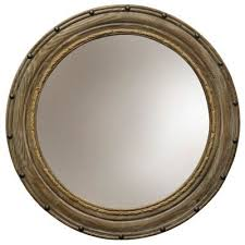 this round wooden mirror with wood