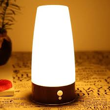 Led Table Lamp Night Light For Kids Bedroom Living Room Battery Operated Motion Sensor Desk Lamp Home Night Lighting Fixtures Led Table Lamps Aliexpress
