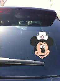 02 04 Nurse Minnie Mouse Bow Car Window Vinyl Decal Sticker Ebay