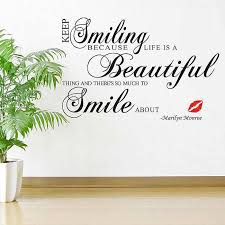 keep smiling wall quotes stickers quotes wall decals