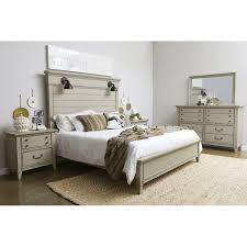rustic taupe 4 piece queen bedroom set