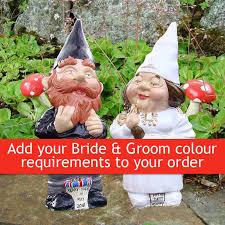 garden gnomes wedding couple