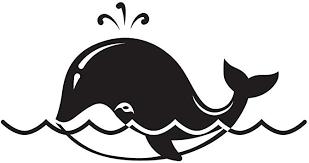 Amazon Com Cute Cartoon Whale Black Vinyl Decal Sticker For 13 Macbook Apple Laptop Computer Computers Accessories