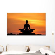Yoga Meditation Wall Mural By Wallmonkeys Peel And Stick Graphic 48 In W X 28 In H Wm16581 Walmart Com Walmart Com