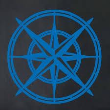 The Decal Guru North Star Compass Wall Decal Wayfair