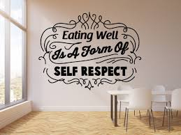 Vinyl Wall Decal Healthy Eat Words Kitchen Decor Home Eating Well Stic Wallstickers4you