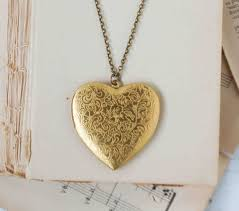 gold heart locket pendant large heart