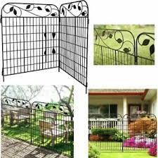 Metal Garden Fence 44inx6ft Fencing Gate Border Folding Animal Barrier Black Ebay