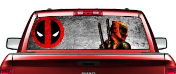 Marvel Comics Deadpool Logo Decal Vinyl Truck Car Sticker Auto Parts And Vehicles Car Truck Graphics Decals Magenta Cl
