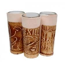 leather encased shot glasses