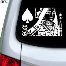 Queen Of Spades Decal For Car Window Stickany