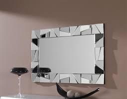modern rectangular wall mirror with