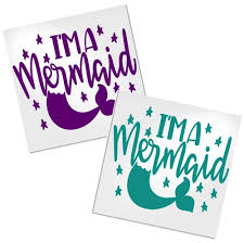 Mermaid Decal For Cup Car Or Laptop Decals By Adavis