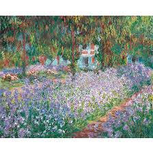 garden in giverny by claude monet