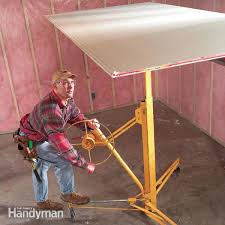 how to hang drywall use a lift