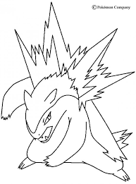Typhlosion Coloring Pages Hellokids Com