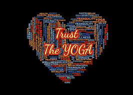 trust the yoga graphic by hit langs