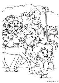 Sinterklaas En Zwarte Piet Kleurplaten Kleurplaten Eu