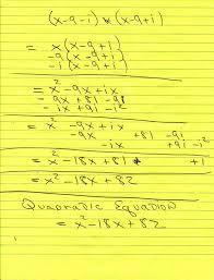 solution find the quadratic equation
