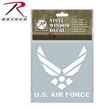 U S Air Force Wing White Vinyl Window Decal Army Navy Shop