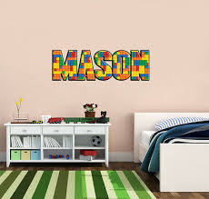 Lego Bricks Personalized Name Custom Decal Wall Sticker Mural Home Decor Wp08 16 00 Picclick