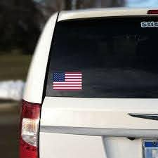 American Flag Car Sticker Repositionable Usa Flag Graphic Decal