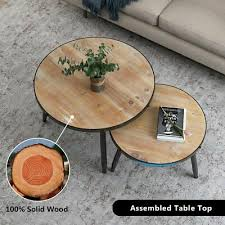 end table home living room rustic brown