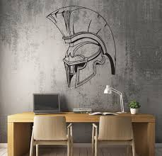 Wall Decal Sparta Spartan Helmet Ancient Greece Warrior Best Etsy
