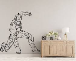 Iron Man Avengers Wall Decal Kids Room Decor Stickers Superhero Wall Decor Wall Art Marvel Superhero Wall Decor Mandala Wall Art Superhero Wall Decals