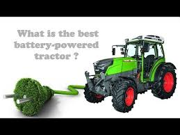 battery powered electric tractor