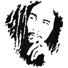 Bob Marly Decal Bob Marley Vinyl Decal Bob Marley Vinyl Sticker Bob Marley Silhouette Bob Marley Computer Decal Bob Marley Computer Sticker