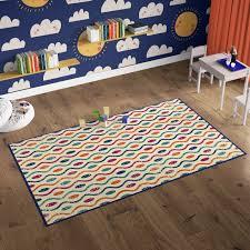 Shop Deerlux Modern Kids Living Room Area Rug With Nonslip Backing Multicolor Dotty Waves Pattern Overstock 30061928