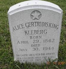 "Alice Gertrudis ""Addie"" King Kleberg (1862-1944) - Find A Grave Memorial"