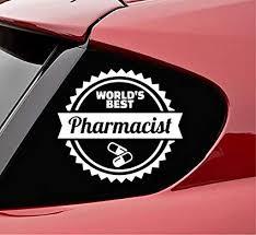 Amazon Com Slap Art Worlds Best Pharmacist Vinyl Decal Sticker White Automotive