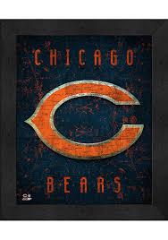 chicago bears 12x16 retro logo wall art