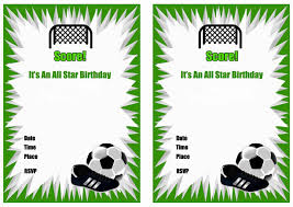 Free Printable Soccer Birthday Party Invitations Invitaciones De