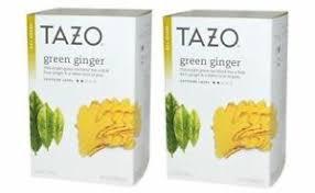 tazo green tea green ginger 2 pack ebay