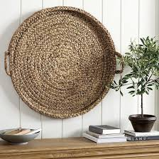 round hyacinth bleached wall basket