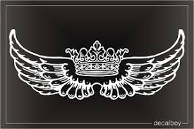 Crown Angel Wings Flying Decal