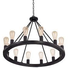 12 light wagon wheel chandelier
