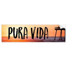 Pura Vida Sunset Beach Tropical Bumper Sticker Zazzle Com