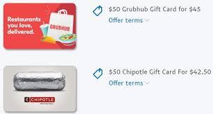 50 grubhub gift card