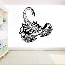 Scorpion Wall Sticker Animal Diy Decals Home Wall Decoration Bedroom Wall Art Living Room Vinyl Art Waterproof Stickers 3645 Wall Stickers Aliexpress