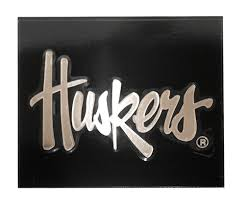 Huskers Silver Script Window Decal
