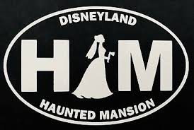 Disneyland Haunted Mansion Bride Car Decal Ebay