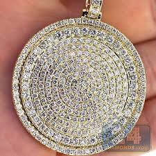 whole mens diamond round medallion