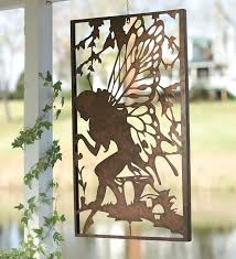 fairy wall art metal garden wall art